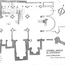 excavaciones Catedral de Cartagena Pedro A. San Martín Moro-1958