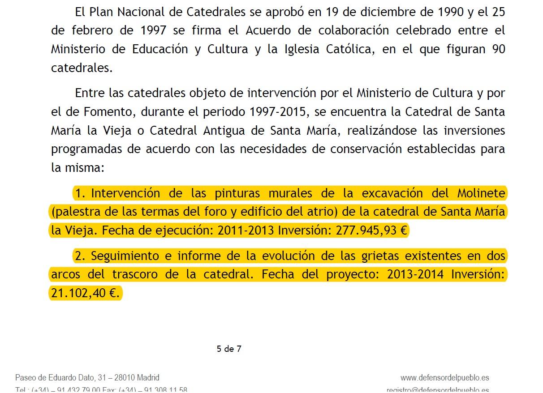 Detalle Consejería Cultura al Defensor del Pueblo1